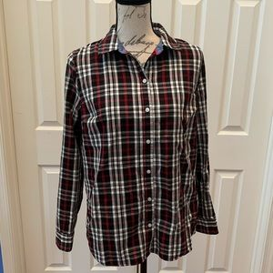 Charter Club Relax Fit Plaid Button Up Shirt